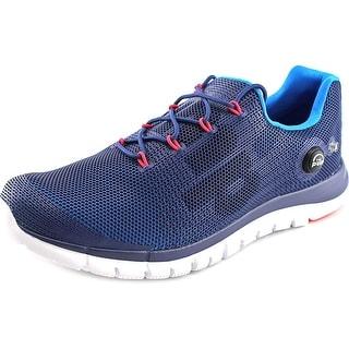Reebok ZPump Fusion Men Round Toe Synthetic Blue Running Shoe