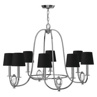 Hinkley Lighting 3758 8 Light 2 Tier Candle Style Chandelier from the Marielle Collection