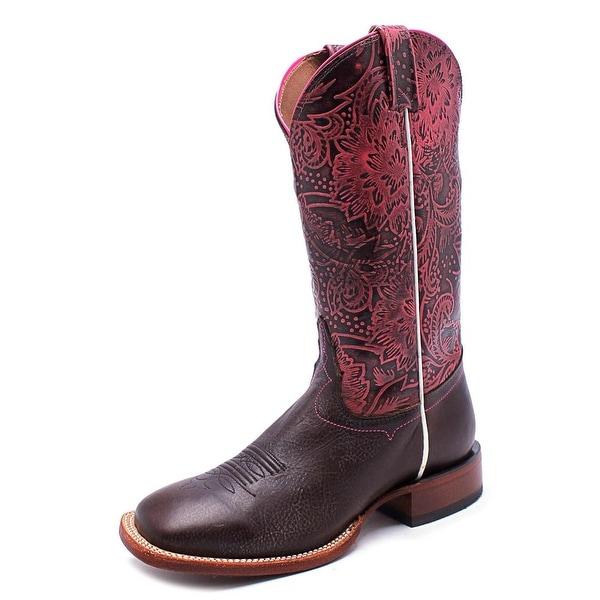 Tony Lama Fargo Square Toe Leather Western Boot