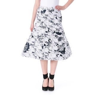 Thom Browne Womens Toile Lace Flare Skirt - 1