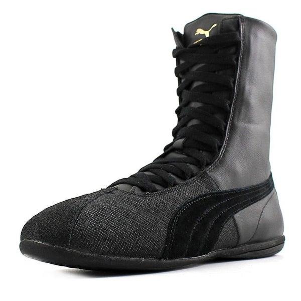 2428c31c07a Shop Puma Eskiva Hi Remaster Women Round Toe Synthetic Black ...