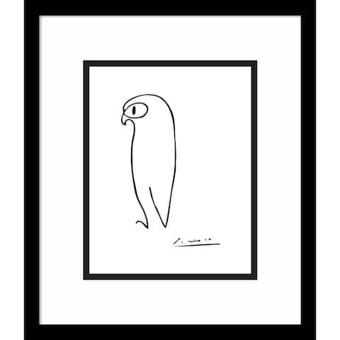 Porch & Den Pablo Picasso 'Owl' Framed Art Print