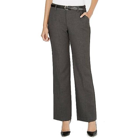Charter Club Women's Dress Pants Gray Size 22W Belted Slimming Stretch