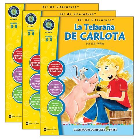 (3 Ea) La Telarana De Carlota Lit Kit Spanish