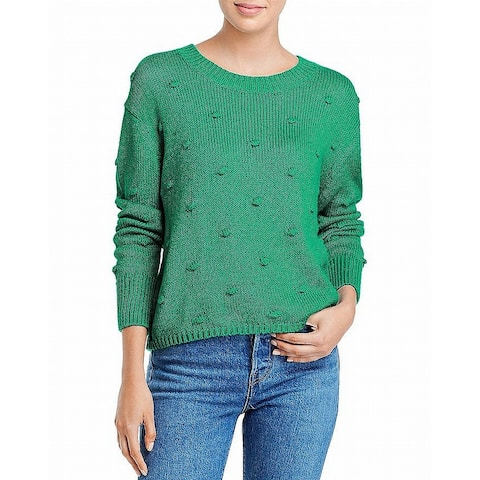 525 America Women's Sweater Green Size XL Pullover Textured Cotton