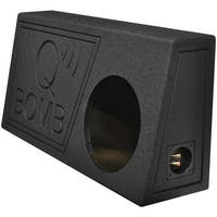 "Qpower Single 10"" Truck Ported SPL Empty Woofer Box with Bed Liner Spray"