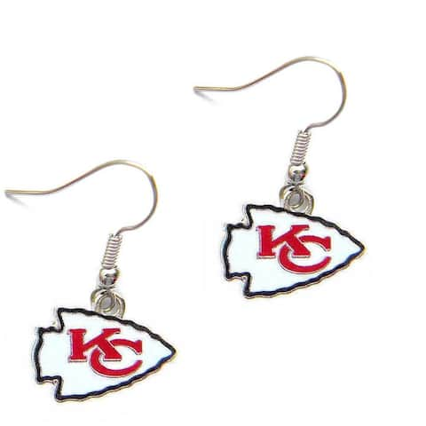 Kansas City Chiefs Dangle Logo Earring Set Charm Gift NFL - 5/8 inch to 3/4 inch