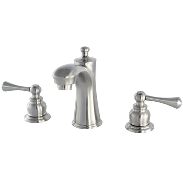 Kingston Brass KB796.BL Vintage 1.2 GPM Widespread Bathroom Faucet with Pop-Up Drain Assembly and Metal Handles