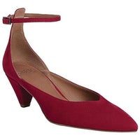 50f0401897a7 Sarto by Franco Sarto Women s Coralie Ankle Strap Cherry Kid Suede Leather