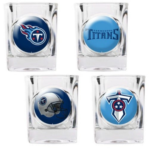 Great American Products Tennessee Titans Shot Glass Set 4pc Collectors Shot Glass Set