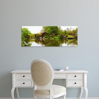 Easy Art Prints Panoramic Images's 'Pond in a garden, Missouri Botanical Garden, St. Louis, Missouri, USA' Canvas Art