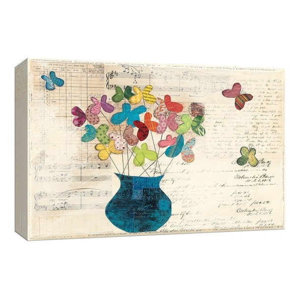 """PTM Images 9-153651 PTM Canvas Collection 8"""" x 10"""" - """"Butterfly Bouquet"""" Giclee Flowers Art Print on Canvas"""