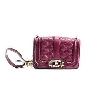 Rebecca Minkoff NEW Red Quilted Leather Mini Love Crossbody Bag Purse