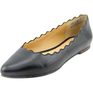 Me Too Alexia Women Pointed Toe Leather Black Flats