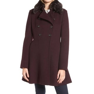 Link to Via Spiga Women's Coat Purple Size 4 Double Breasted Peplum Faux-Fur Similar Items in Women's Outerwear