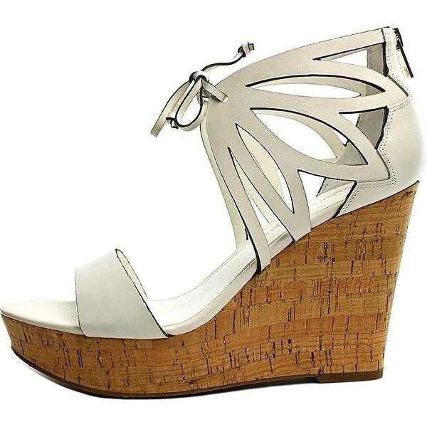 Ivanka Trump Womens Hopela Leather Open Toe Special Occasion Platform Sandals