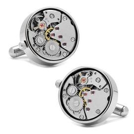 Silver Watch Movement Cufflinks