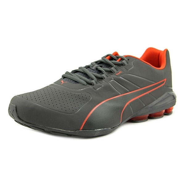 Puma Voltage 180 sl Round Toe Leather Tennis Shoe