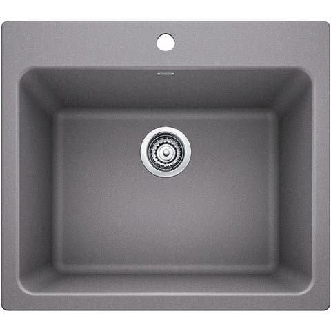 "Blanco 401924 Liven 25"" Drop-In or Undermount Laundry Sink"