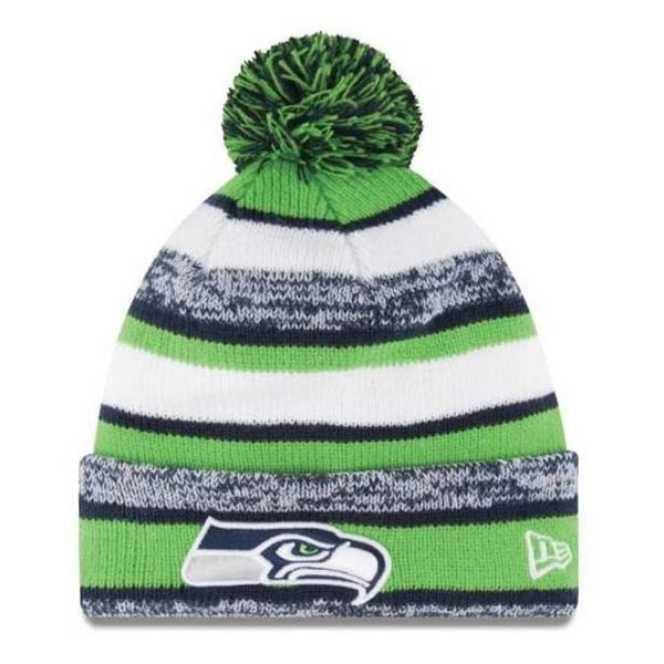 Shop New Era Seattle SeaHawks NFL Stocking Knit Hat Winter Beanie On Field  11008718 - Free Shipping On Orders Over  45 - Overstock - 19113867 74ad2ec33ad