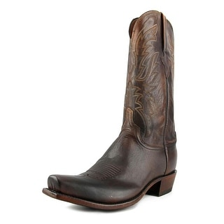 Lucchese N1662 Men 2E Square Toe Leather Brown Western Boot