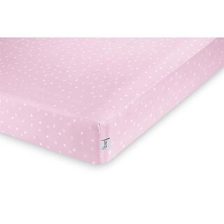Baby Gund Twinkle Deluxe Crib Sheet - light pink
