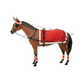Gift Corral Driving Set Christmas Hat Sheet Leg Wraps Red White