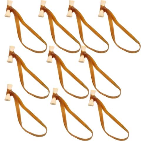 BongoTies All Natural Reusable Cable Tie Wraps - 10-Pack - Natural - One Size