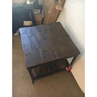 Trenton Distressed Pine/ Metal End Table