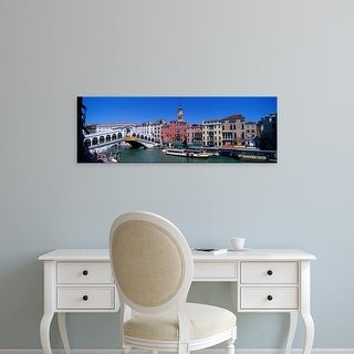 Easy Art Prints Panoramic Images's 'Ponte di Rialto Venice Italy' Premium Canvas Art