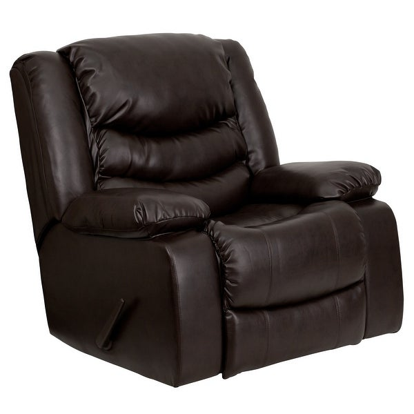 Plush LeatherSoft Lever Rocker Recliner with Padded Arms - Home Recliner. Opens flyout.