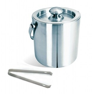 Visol VAC225 Brushed Stainless Steel Ice Bucket with Tongs