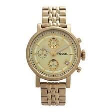 Fossil Es2197p Original Boyfriend Chronograph Gold-Tone Stainless Steel Watch Watch For Women