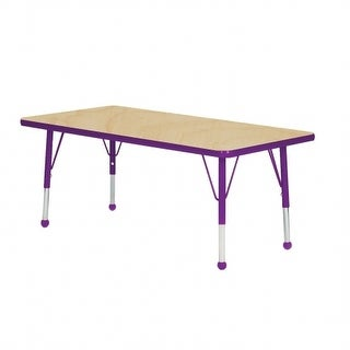 Mahar Manufacturing M2448GT-SB 24 x 48 in. Rectangle Activity Table with Maple Top & Graphite Edge - Standard Leg Ball Glides