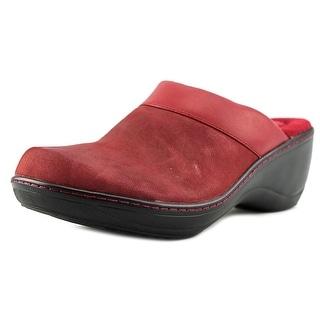 Softwalk Murietta Women N/S Round Toe Leather Red Clogs