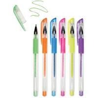 Neons-Living In Color Color-Flow Glitter Gel Pen Set 6/Pkg