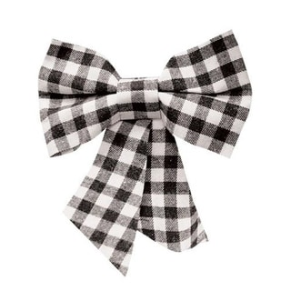 Link to Black & White Plaid Bow Ornament Similar Items in Christmas Decorations