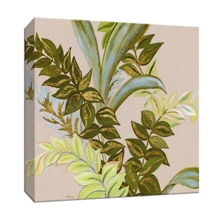 "PTM Images 9-147947  PTM Canvas Collection 12"" x 12"" - ""Rainforest II"" Giclee Leaves Art Print on Canvas"