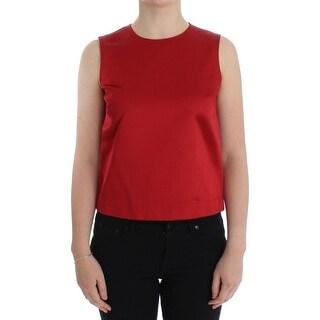 Dolce & Gabbana Dolce & Gabbana Red Silk Tank Top