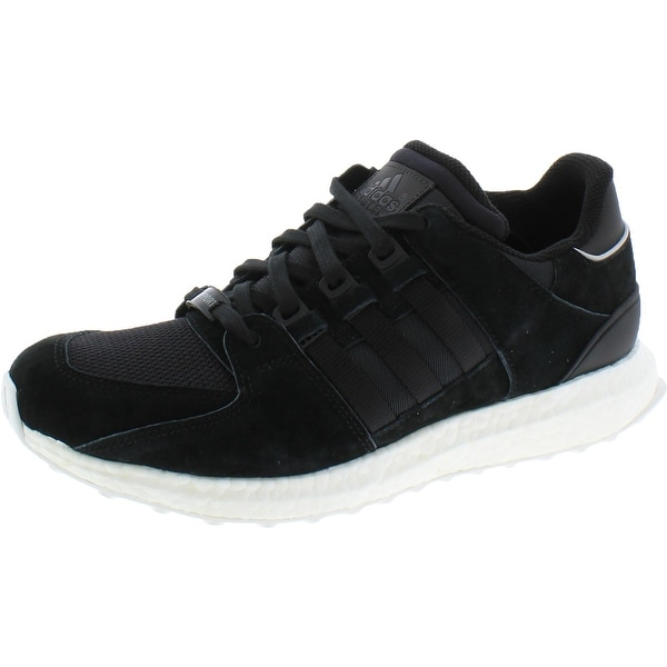Adidas Mens Equipment Support 93/16 Running Shoes Mixed Media Track - Black/Vintage White