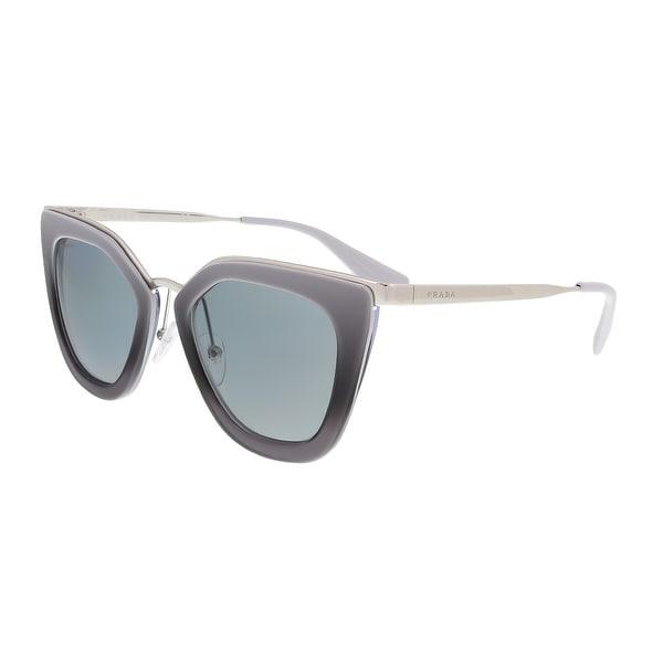 0a3652b184bce Shop Prada PR 53SS UFV3C2 Grey Gradient Cat Eye Sunglasses - 52-21 ...