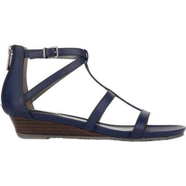 d3c57a018c88 Shop Kenneth Cole Reaction Women s Great Plane T Strap Sandal Navy  Polyurethane - Free Shipping Today - Overstock - 19880073