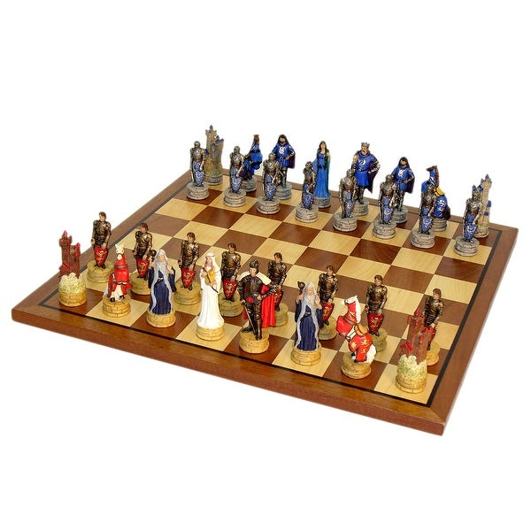 King Arthur Chess Set With Sapele Maple Board - Multicolored