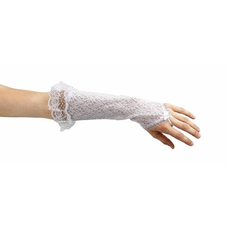 Ladies Love Lace Long Fingerless Gauntlet Gloves
