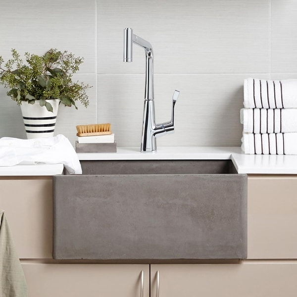 "NativeStone Farmhouse 24"" Kitchen Sink - 24"" x 18"" x 10.25"". Opens flyout."