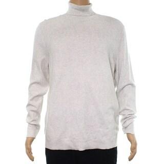 Alfani Gray Mens Size Large L Diamond Texture Turtleneck Sweater