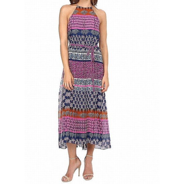 6253f533075 Shop Donna Morgan Pink Womens Size 12 Shift Pleated Tie-Waist Dress ...