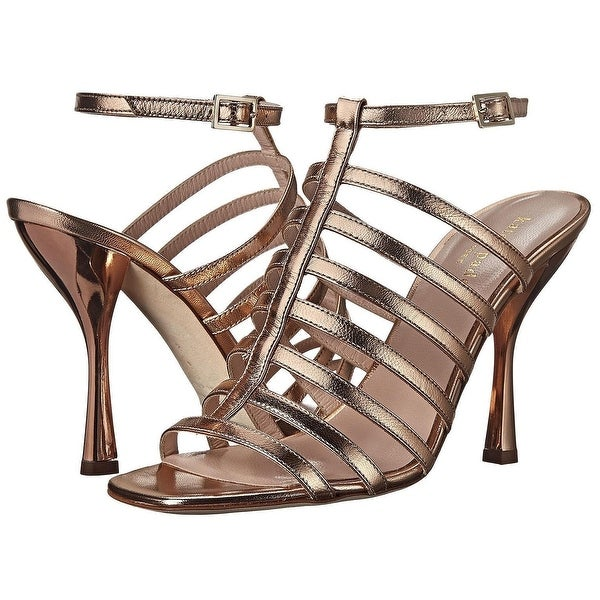 Kate Spate NEW Rose Gold Women's Shoes 7.5M Delila Leather Sandal