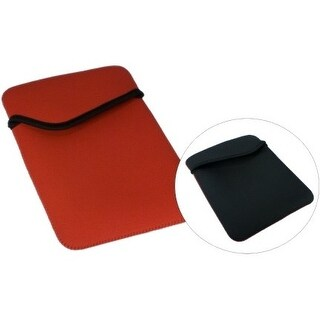 QVS IC-RB QVS Carrying Case (Sleeve) for iPad, Tablet - Red, Black - Scratch Resistant Interior - Nylon