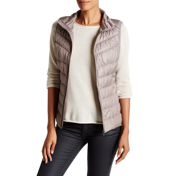 d59e406842 Shop Be Boundless NEW Beige Womens Size Large L Quilted Puffer Vest Jacket  - Free Shipping On Orders Over  45 - Overstock - 21027822